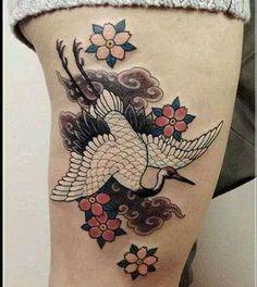 133 Best Crane Tattoo Images In 2019 Crane Tattoo Arm Tattoo Arm