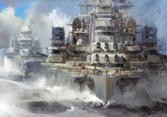 The Battleship is obsolete today and yet it still radiates so much of what it symbolized and so I still have Nostalgic feelings for back when Battleships would duel by leading their Shots and Shoot each other while maneuvering through the Waters. Military Photos, Military Art, Military History, Military Life, Army Wallpaper, Wallpaper Art, Mobile Wallpaper, Naval History, Navy Ships