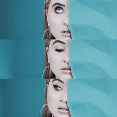 This photoshoot reminds me of a mature version of eyes wide open// blue is her color #Sabrinacarpenter @sabrinacarpenter