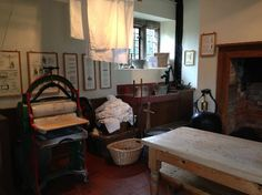 This washroom, what would today be called a laundry room, is part of a Victorian reenactment. The mansion was built in 1850.