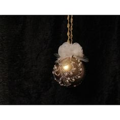Handcrafted Flowers, Crystals and Pearls Gold Glass Ball Ornament Handcrafted Christmas Ornaments, Handmade Christmas, Fabric Ornaments, Ball Ornaments, Gold Glass, Glass Ball, Gemstones, Pearls, Crystals