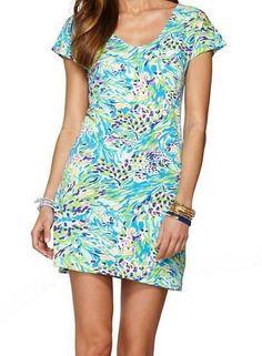 Lilly Pulitzer Daniella T-Shirt Dress in Sea Soiree