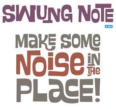 Swung Note font sample  #Fonts #web #newfonts