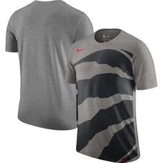 13ac5dfb78b Men's Toronto Raptors Nike Gray Oversize Logo Performance Tri-Blend T-Shirt
