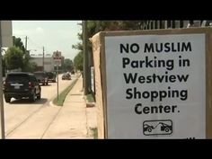 Really?  REALLY?!  I'm becoming more and more certain that Texas is not where I want to visit anytime in the near future.  'No Muslim Parking' SIgn at Texas Shopping Center