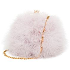 Mogor Women's Faux Fur Fluffy Feather Round Clutch Shoulder Bag (£24) ❤ liked on Polyvore featuring bags, handbags, shoulder bags, round purse, man shoulder bag, faux fur handbags, pink purse and shoulder handbags