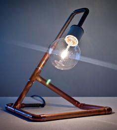 industrial DIY lamp