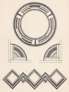 Gallery of 25 best ideas about deco pattern on - art deco design Motif Art Deco, Art Deco Pattern, Art Deco Design, Pattern Design, Design Design, Art Deco Borders, Art Nouveau, Arte Popular, Design Floral