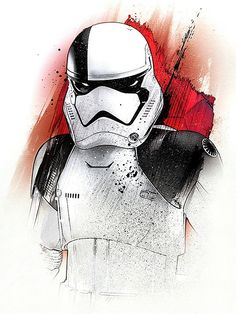 Official Star Wars The Last Jedi Character Portraits Stormtrooper artwork by artist Star Wars Fan Art, Star Wars Holonet, Star Wars Gifts, Star Wars Characters, Star Wars Episodes, Star Wars Desenho, Star Wars Painting, Star Wars Personajes, Images Star Wars