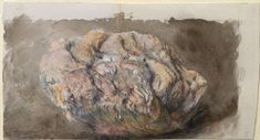 John Ruskin. 'Study in Colour of Quartz Rock, Weathered'. Watercolour and bodycolour over graphite on wove paper. 1871.