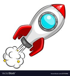 Flying white rocket on white background Royalty Free Vector , Space Party, Space Theme, Buda Wallpaper, Cartoon Spaceship, Easy Canvas Art, Star Background, Baby Clip Art, Cute Dragons, Dibujos Cute