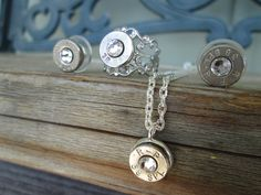 Bullet Jewelry Set Clear by Sarahsjewelrydesigns on Etsy, $50.00