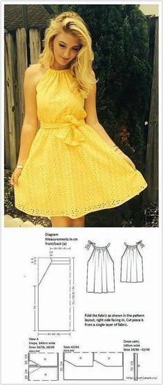 Dress pattern sewing summer 42 New Ideas Dress pattern sewing summer 42 New Ideas Dress Sewing Patterns, Clothing Patterns, Pattern Sewing, Summer Dress Patterns, Diy Clothing, Sewing Clothes, Female Clothing, Fashion Sewing, Diy Fashion
