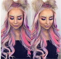 703 Likes 20 Comments Magical Wonderland (Magical Wonderland Clothing) on I Fairy Makeup Clothing Comments Likes Magical Wonderland Alien Makeup, Unicorn Makeup, Maquillage Halloween, Halloween Makeup, Holiday Makeup, Rave Hair, Festival Makeup Glitter, Rave Makeup, Pinterest Makeup