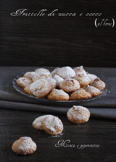 Frittelle di zucca e cocco (al forno) #ricetta #dolci #frittelle #zucca