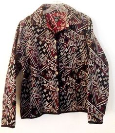 Tally Ho Womens Size XL Tapestry Jacket Blazer Classic Career to Evening #TallyHo #BasicCoatBlazer #Tapestry #TallyHo #BlazerJacket #DayTrip #Evening #Career