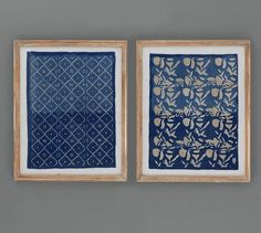 Framed Blue Textile