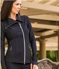 4all by JoFit Ladies Golf/Tennis Jet Set Jackets - Lifestyle (Black)