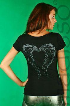 Koszulka z nadrukiem - skrzydła MADISSO L