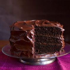 The BEST chocolate layer cake you'll ever have! #recipe #chocolaterecipe