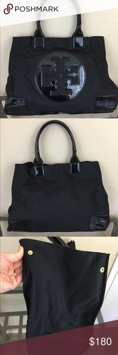 Tory Burch large Ella tote Great condition, has some pen marks interior lining and the handles have light wear on their undersides. Tory Burch Bags