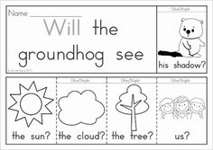 Get this FREE when you download the preview. Groundhog Day Sight Words Flip Books (colored black and white). Includes a recording sheet for each booklet so kids can write their favorite sentences. Great paper saving alternative to traditional readers!