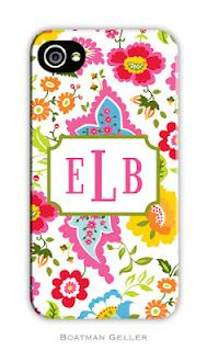 Bright Floral Boatman Geller Monogrammed Cell Phone, iPhone and Tech Case on Sale Iphone 3 Cases, Cell Phone Covers, Hard Phone Cases, Cute Phone Cases, Personalized Phone Cases, Personalized Invitations, Great Gifts For Mom, 6s Plus, Just In Case