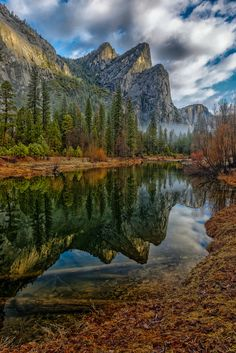 ~~Three Brothers Reflection | Cathedral Beach & Merced River, Yosemite National Park, California | by jetguy1~~