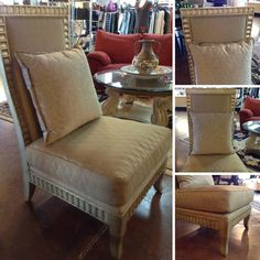 """Accent Chair - """"Schnadig"""" Large Gold Chair w/ Pillow - $399.95"""