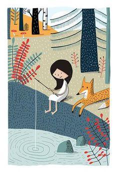 Élise Gravel - Art print - À la pêche - Sur ton mur - 1