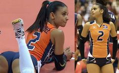 indoor volleyball player Winifer Fernandez from Dominican Republic's national volleyball team may be the hottest girl at Rio 2016 Olympics. Girls Volleyball Shorts, Female Volleyball Players, Women Volleyball, Gymnastics Girls, Beach Volleyball, Winifer Fernandez, Pinup Photoshoot, Fitness Man, Beautiful Athletes