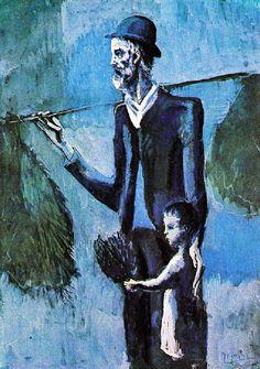 La fin de 1902 à Paris avait été très dure pour Picasso Il partageait la chambre de Max Jacob, bd Voltaire Picasso dessinait toute la nuit ; il se couchait quand Max Jacob allait travailler. Il brûla une grande partie de ses dessins pour se chauffer Vers la mi-janvier il quitta Paris pour Barcelone Alors que le moindre trait de Picasso éclaire une feuille blanche, il est si désemparé qu'il se laisse aller et que ses œuvres de cet hiver 1902/1903 ont été qualifiées de « période sale »