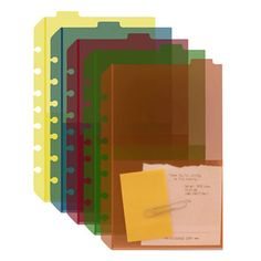 Classic tabbed divider pockets (Set of 5) to add more storage to your binder