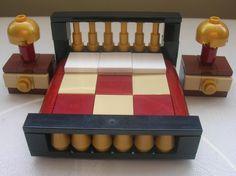 LEGO CUSTOM DOUBLE BED BEDROOM BEDSIDE TABLE LAMP HOUSE MANSION FURNITURE HOTEL   eBay