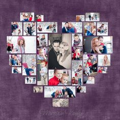 Valentines day gifts for her 4 Diferent Heart Photo Collage Template PSD. by DesignBoutiQ Diy Photo, Wedding Anniversary Gifts, Wedding Gifts, Closets Pequenos, Valentine Day Gifts, Valentines, Photo Collage Template, Photo Heart, Photo Displays