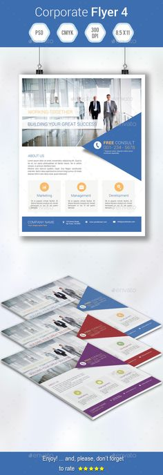 Corporate Flyer Template PSD   Buy and Download: http://graphicriver.net/item/corporate-flyer-4/9007286?WT.ac=category_thumb&WT.z_author=grati&ref=ksioks