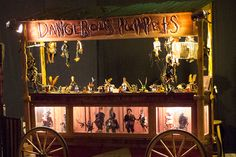 Dangerous Puppets, at the docks.  Gothic puppet shows 3 times per day.