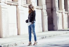 WHITE SHIRT BOYFRIEND JEANS - OUTFIT 2015 fashion blogger