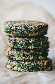 Quinoa Oat Spinach Patties | Green Kitchen Stories