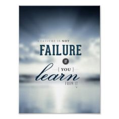 "Failure is not Failure - 8""x10"" Art Print"