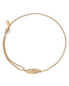 Alex and Ani Precious Metals Symbolic Feather Pull Chain Bracelet | Bloomingdale's