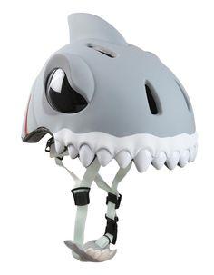 Crazy Safety - Casco bicicletta bambino WHITE SHARK: Amazon.it: Sport e tempo libero