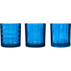 Sagaform Blue Mirrored Glass Tea Light Holder
