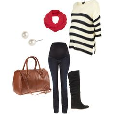 cute prego winter outfit! Ahh to bad I won't be pregnant in winter.
