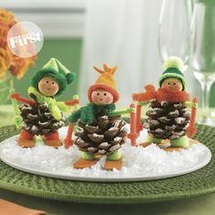 Des petits skieurs en cocottes !
