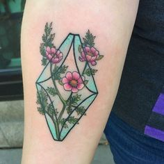 Floral tattoo by Lindsee