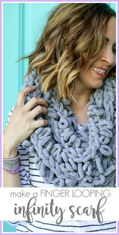 Finger Looping Chunky Infinity Scarf - Sugar Bee Crafts