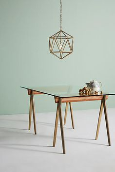 Anthropologie Hammered A-Frame Dining Table Anthropologie #anthropologie #anthrofavs #anthropologiestyle ad