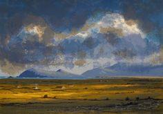 Aidan Flanagan: Morning Light, Dingle Peninsula, silkscreen,  €300