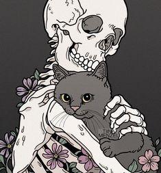 Art And Illustration, Illustrations, Art Sketches, Art Drawings, Skeleton Art, Skull Art, Aesthetic Art, Oeuvre D'art, Dark Art